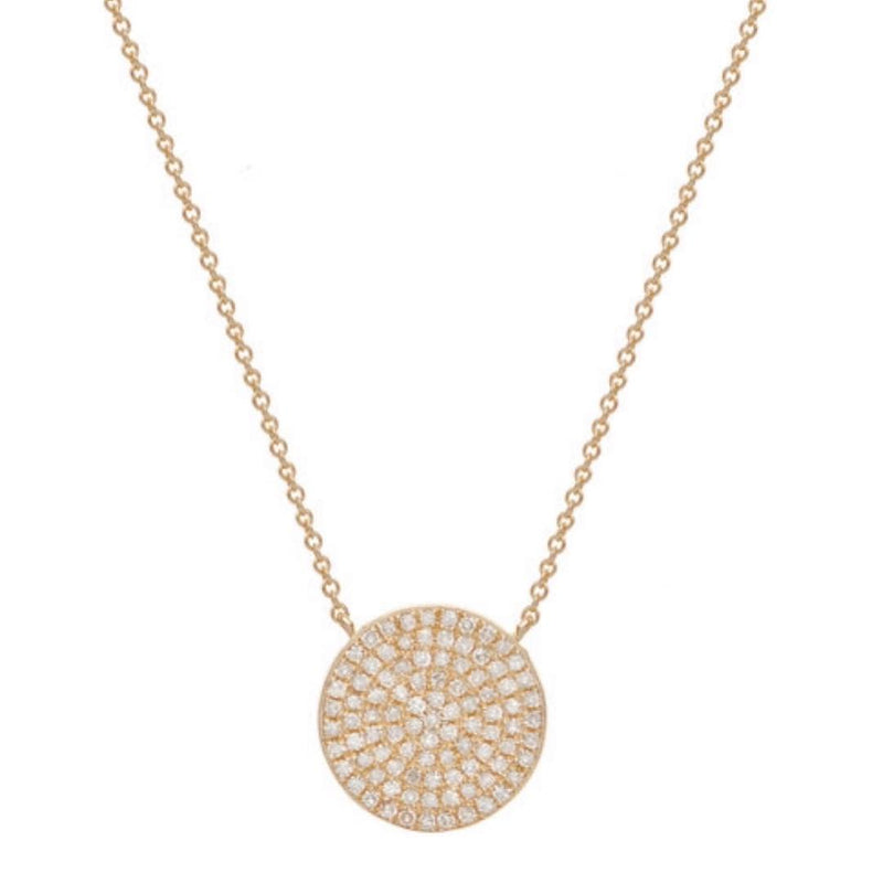 ORIGINAL DISC NECKLACE  WHITE, GOLD