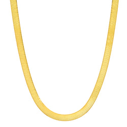 HERRINGBONE CHAIN NECKLACE, GOLD