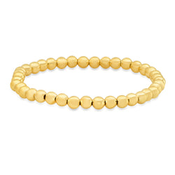 5 MM STRETCH BRACELET, GOLD