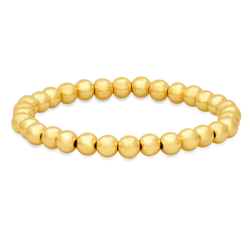 6 MM STRETCH BRACELET, GOLD