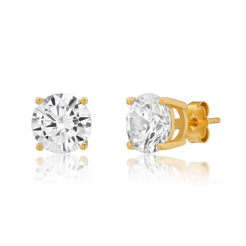 7 MM SOLITAIRE STUD, GOLD