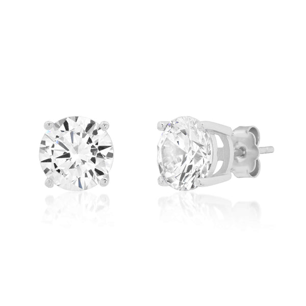 7 MM SOLITAIRE STUD, SILVER