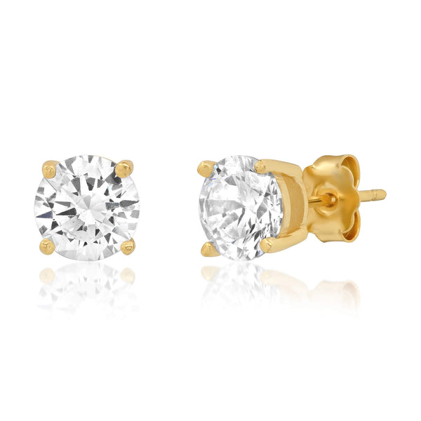 8 MM SOLITAIRE STUD, GOLD