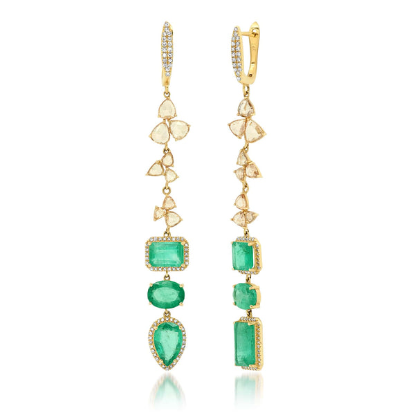 ADMIRATION EARRING, EMERALD