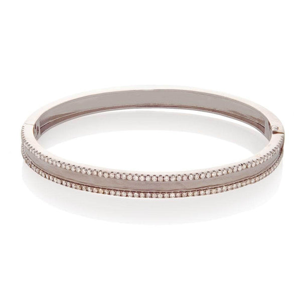 CREATION DIAMOND BANGLE, BR STERLING SILVER