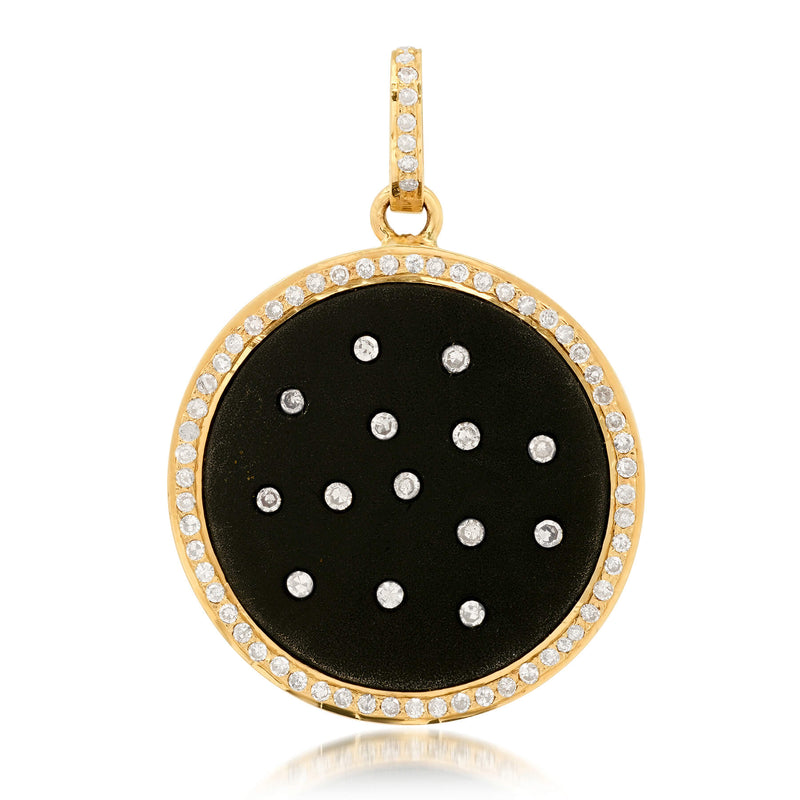 BLACK DIAMOND DISC CHARM, GOLD