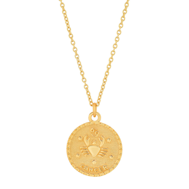 CANCER DISC NECKLACE, GOLD