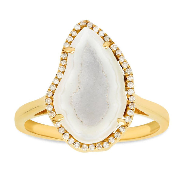 Composed White Geode Ring, Gold.jpg