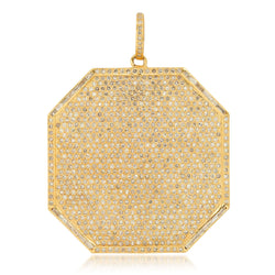 DEFEND 8 SIDED PENDANT, GOLD