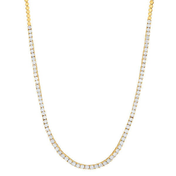 DIAMOND TENNIS NECKLACE, GOLD