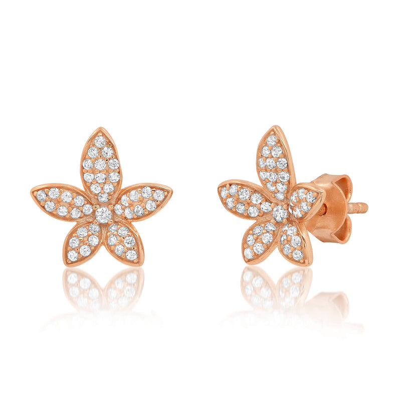 FIORE STUDS, ROSE GOLD