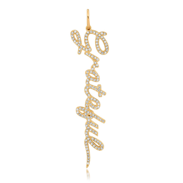 GRATEFUL CURSIVE CHARM, GOLD