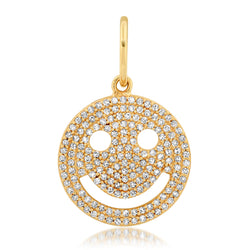 HAPPY FACE CHARM, GOLD