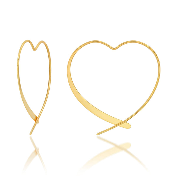 HEART HOOP, GOLD