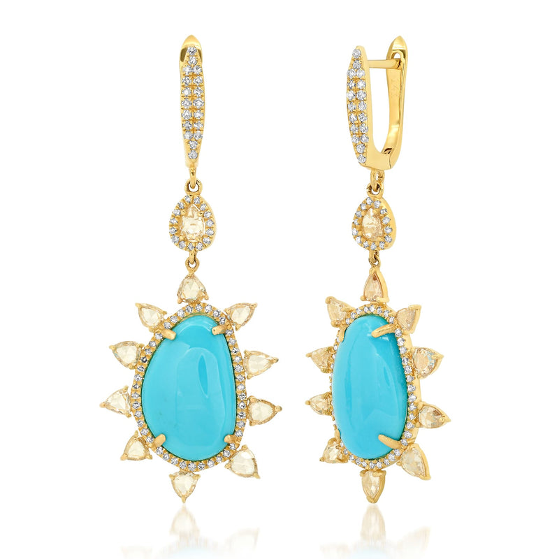 LUMINARY EARRING, TURQUOISE