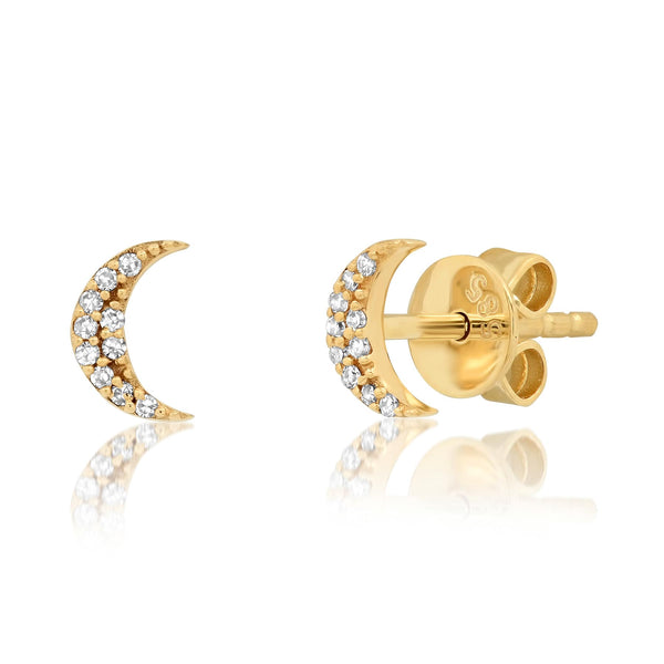 MINI MOON STUDS, GOLD