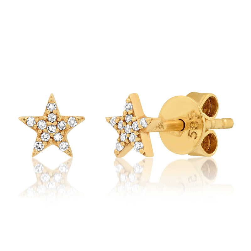 MINI STAR STUDS, GOLD