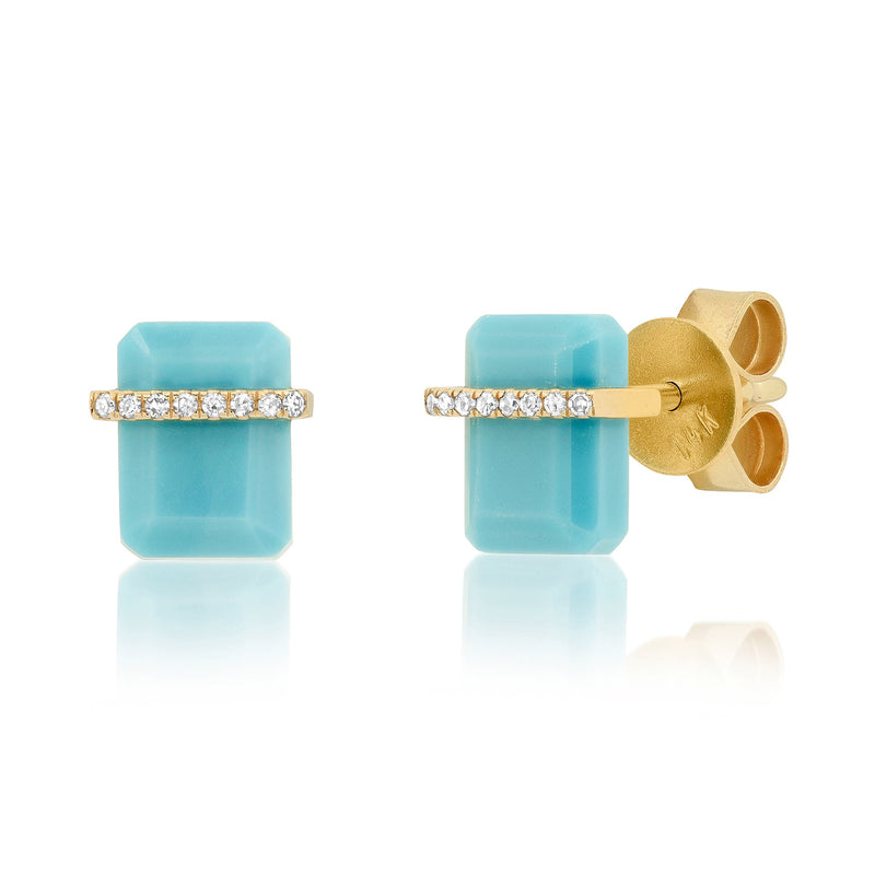 ODYSSEY STUDS, TURQUOISE