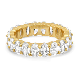 OVAL CUT ETERNITY RING, GOLD