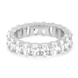 OVAL CUT ETERNITY RING, SILVER