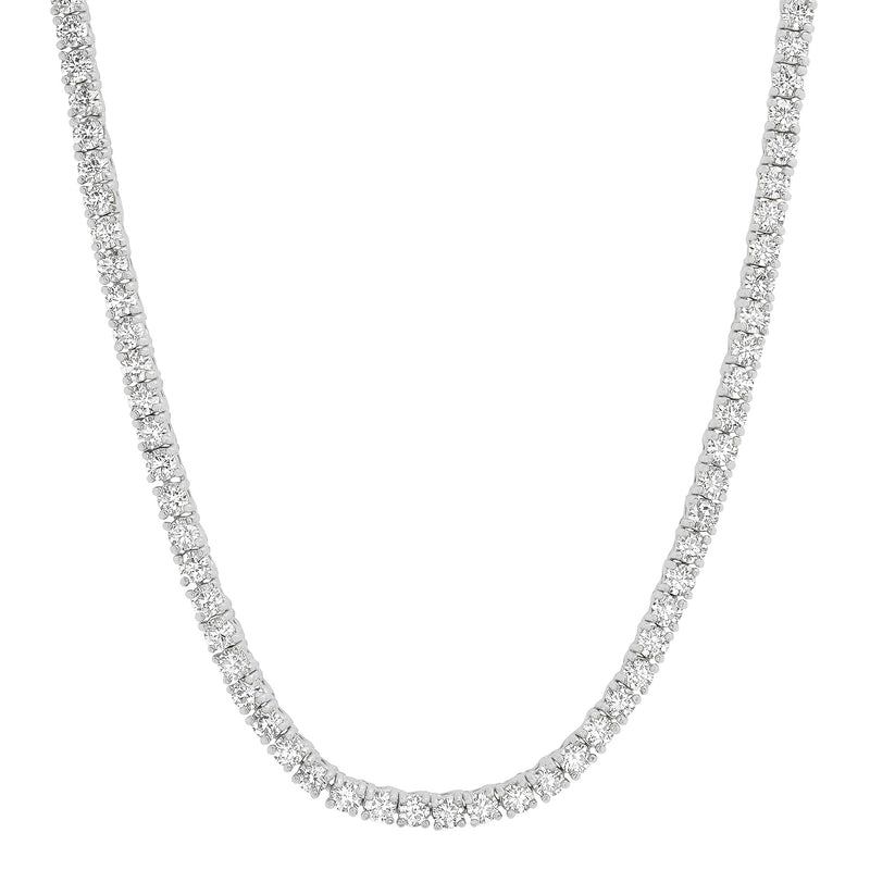 CZ TENNIS NECKLACE, SILVER