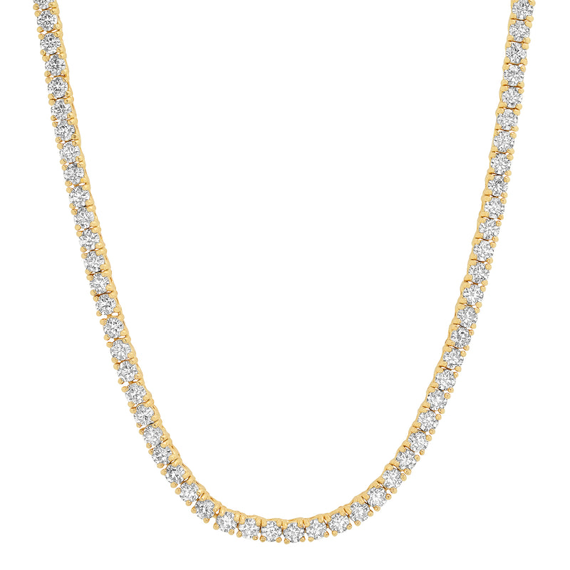 CZ TENNIS NECKLACE, GOLD