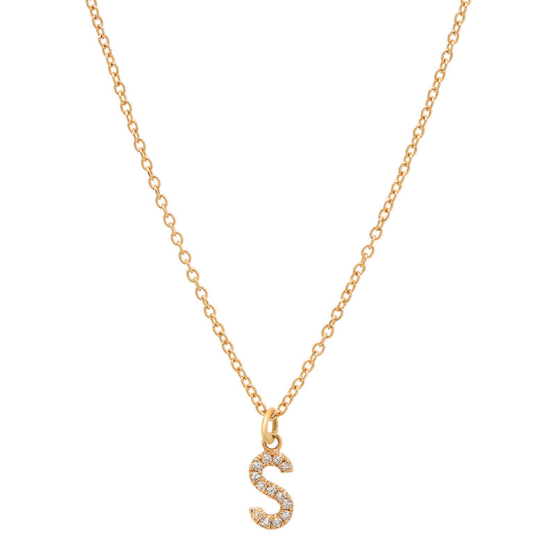 INITIAL LETTER NECKLACE, GOLD