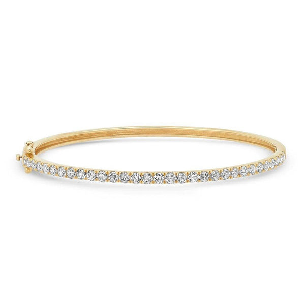 BRILLIANT DIAMOND BANGLE, GOLD