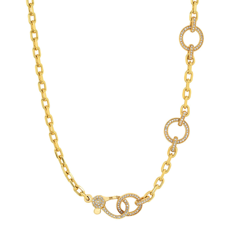 THREE CIRCLE CHAIN, GOLD