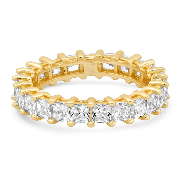 PRINCESS CUT ETERNITY RING, GOLD