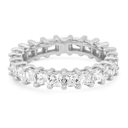 PRINCESS CUT ETERNITY RING, SILVER