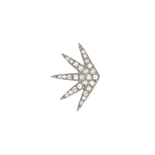 SINGLE RADIATE DIAMOND EARRING, BR STERLING SILVER
