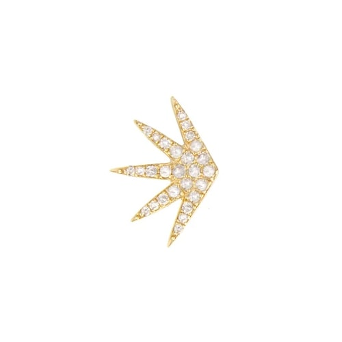 SINGLE RADIATE DIAMOND EARRING, GOLD