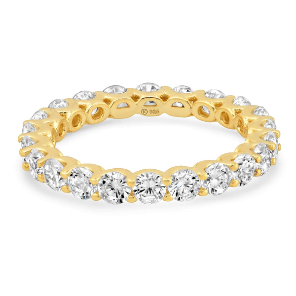 ROUND ETERNITY RING, GOLD