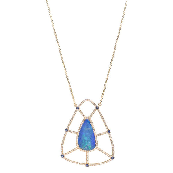 SHIELD NECKLACE, AUSTRALIAN BLUE OPAL.jpg