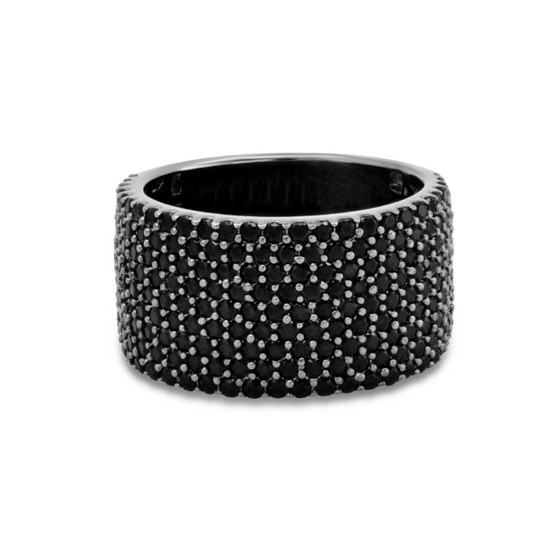 WIDE BAND RING, OSS, BLACK
