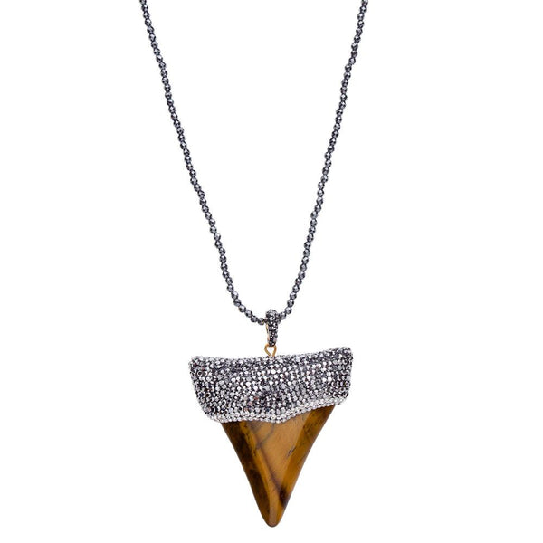 Shark Tooth Necklace, Hematite.jpg