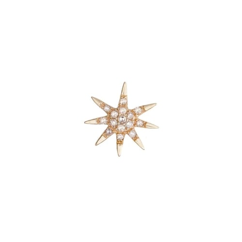 SINGLE SHINE DIAMOND EARRING, GOLD