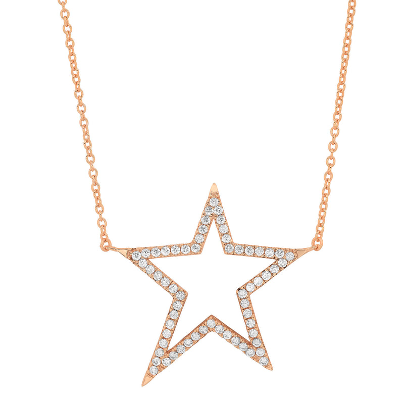 SHOOTING STAR NECKLACE, ROSE GOLD