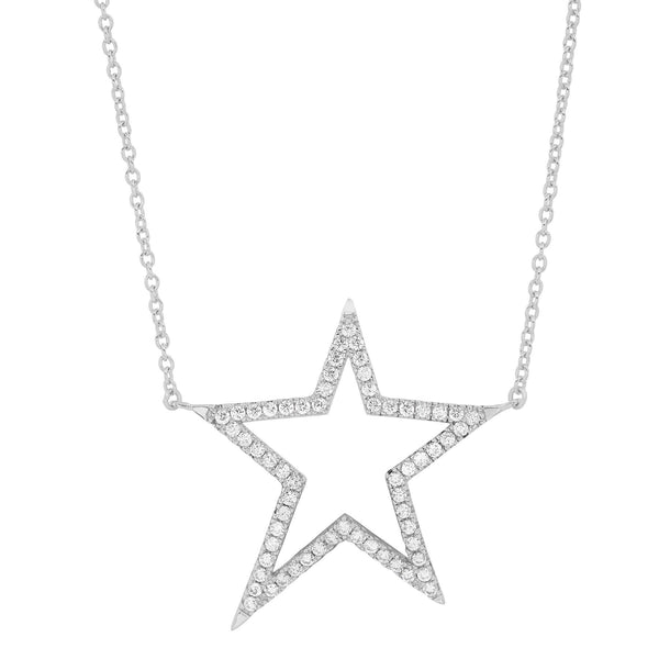 SHOOTING STAR NECKLACE, SILVER