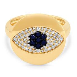 SIGNET RING, EVIL EYE