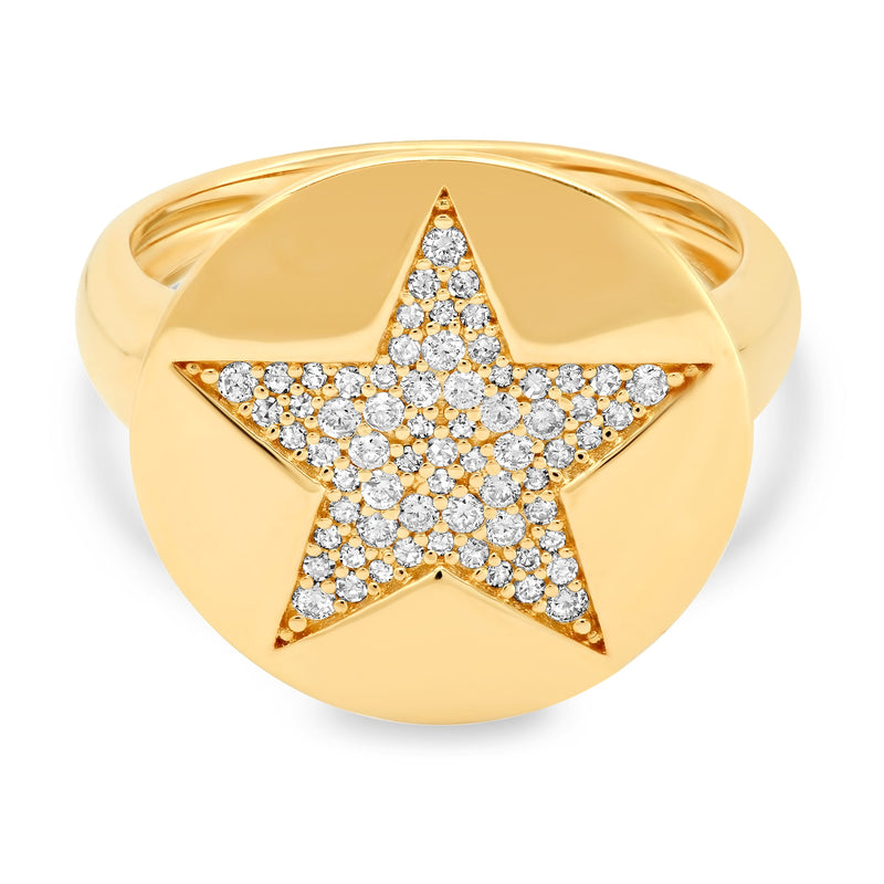 SIGNET RING, STAR