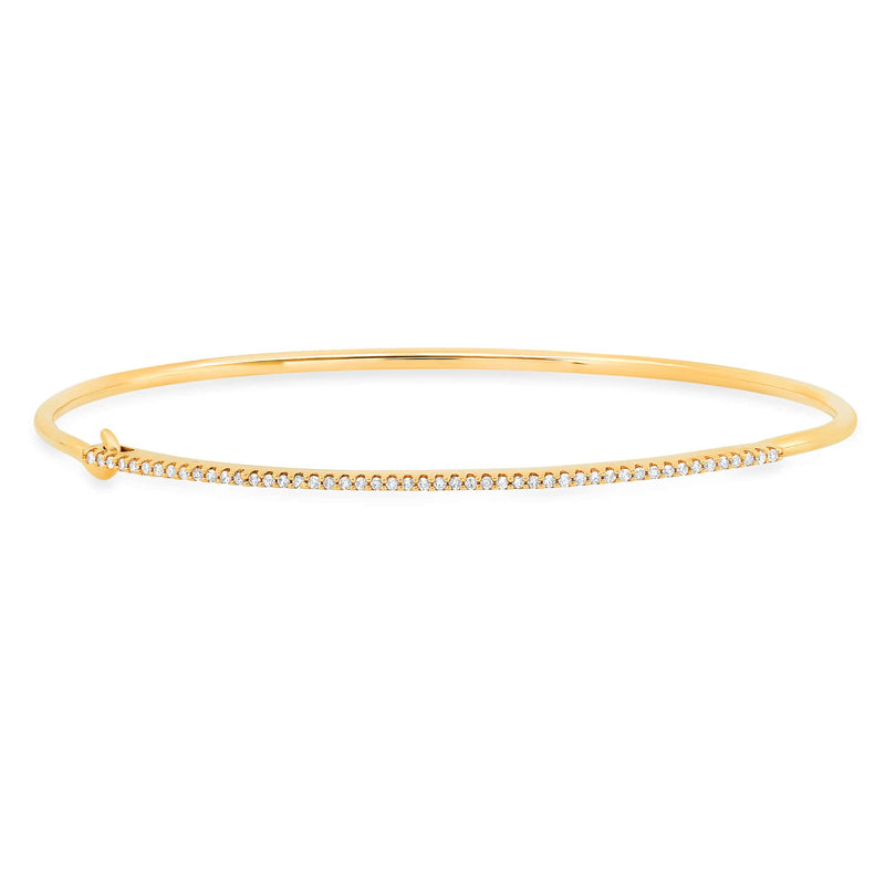SINGLE ROW HOOK BRACELET, DIAMOND
