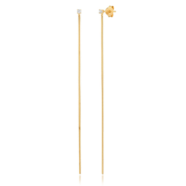SINGLE THREAD EARRING, GOLD