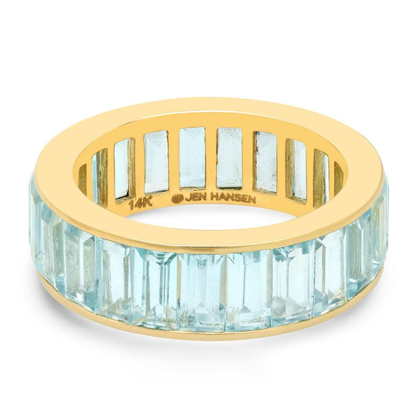 Sky Blue Topaz Channel Set Baguette Ring, Gold.jpg