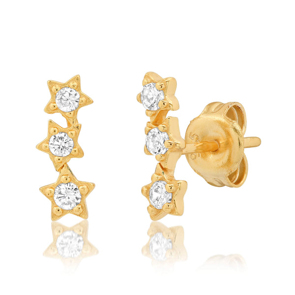 STAR CLUSTER STUD, GOLD