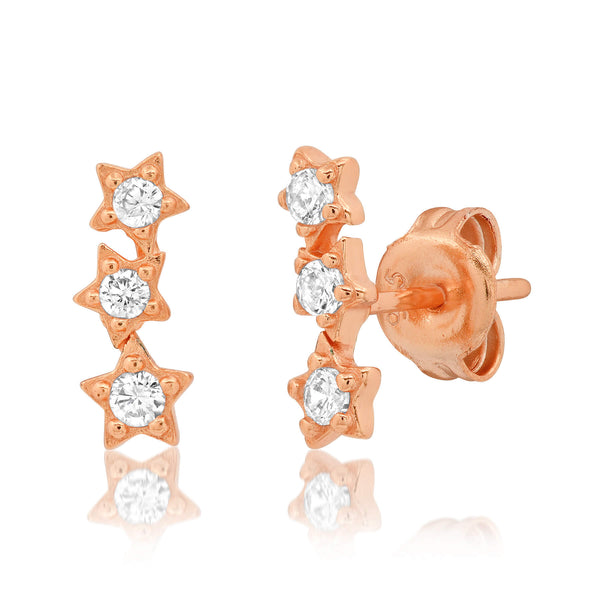 STAR CLUSTER STUD, ROSE GOLD