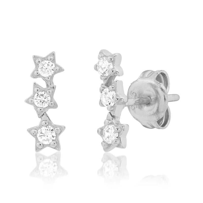 STAR CLUSTER STUD, SILVER