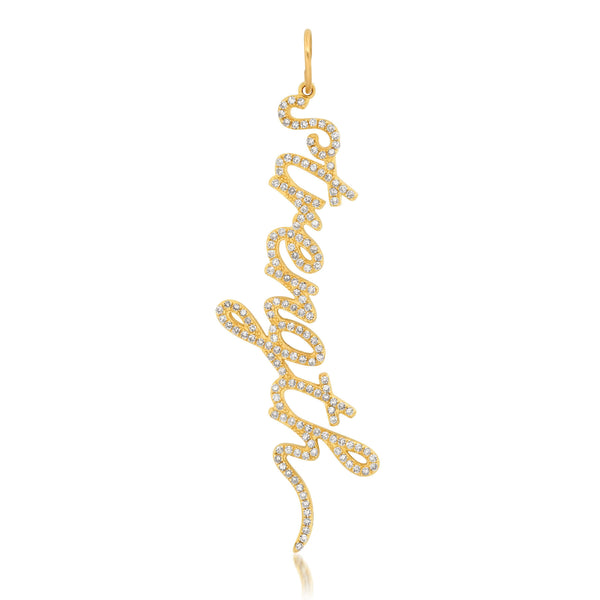 STRENGTH CURSIVE CHARM, GOLD