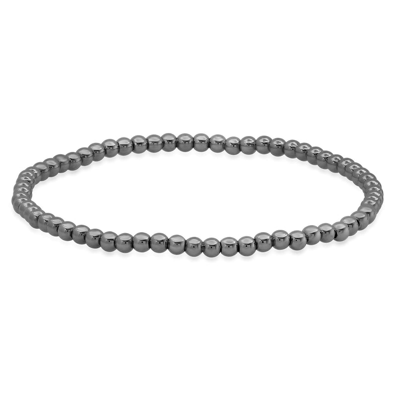STRETCH BRACELET, BLACK RHODIUM